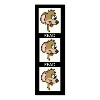 Señal del ratón del dibujo animado tarjetas de visita mini