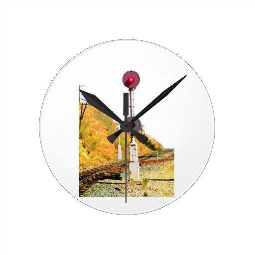 Señal del reflector del ferrocarril relojes de pared