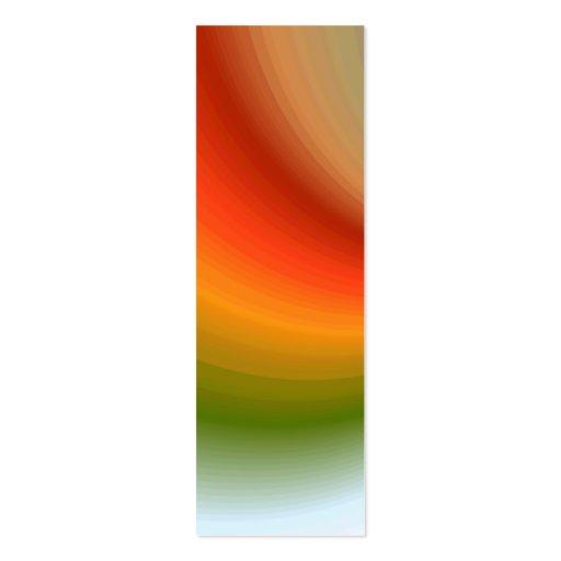 Señal del remolino del arco iris tarjetas de negocios