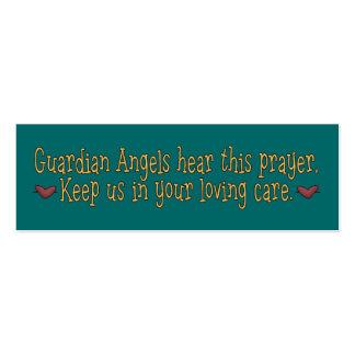 Señal del rezo de los ángeles de guarda tarjetas de visita mini