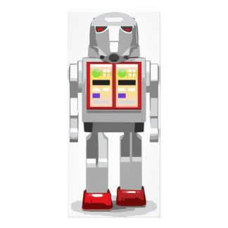 Señal del robot tarjetas publicitarias