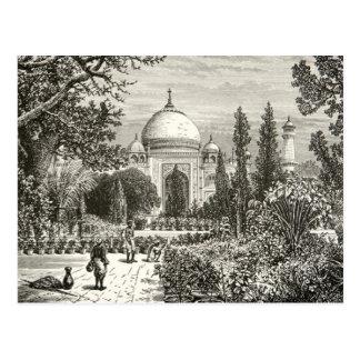 Señal del sitio de la herencia de Agra la India de Tarjeta Postal