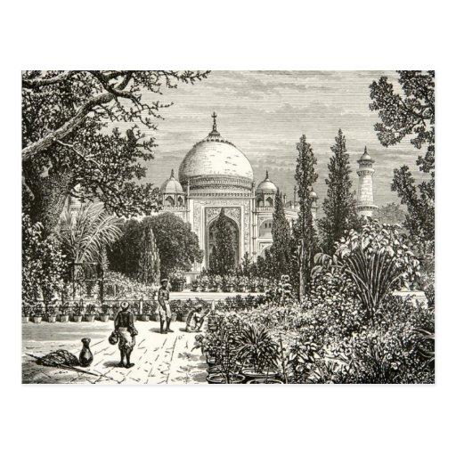 Señal del sitio de la herencia de Agra la India de Tarjetas Postales