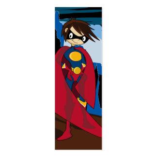 Señal del super héroe tarjetas de visita mini