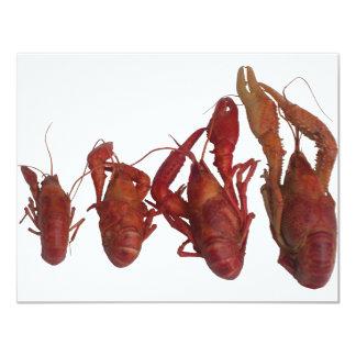 """señal del teléfono celular de los cangrejos invitación 4.25"""" x 5.5"""""""