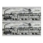 Señal del tren del carril del vintage 1831 postal