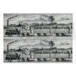 Señal del tren del carril del vintage 1831 tarjeta