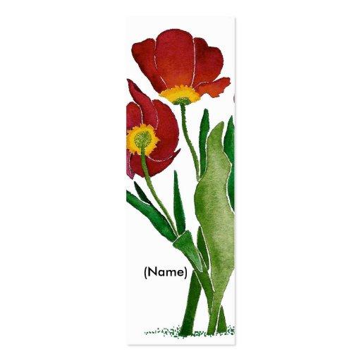 Señal del tulipán personalizada plantilla de tarjeta de visita
