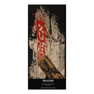 """Señal del valor del """"salvador"""" tarjeta publicitaria a todo color"""