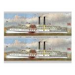 Señal del vapor 1877 del río Hudson Postal