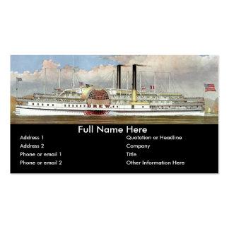Señal del vapor 1877 del río Hudson Tarjetas De Visita