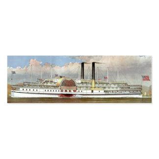 Señal del vapor 1877 del río Hudson Tarjetas De Visita Mini