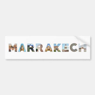 señal del viaje del texto del símbolo de Marruecos Pegatina Para Auto