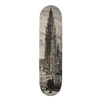"Señal del vintage de la torre del chapitel de la c patineta 7 1/8"""