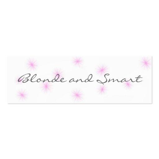 Señal elegante y rubia plantillas de tarjeta de negocio