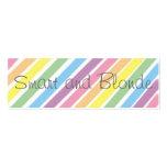 Señal elegante y rubia tarjetas de visita
