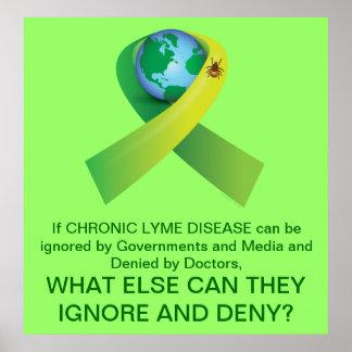 Señal en todo el mundo: Enfermedad de Lyme crónica Póster