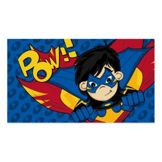 Señal enmascarada del super héroe tarjetas de visita