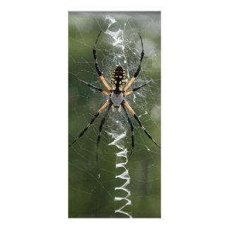 Señal enorme de la araña/del Argiope del amarillo Plantillas De Lonas