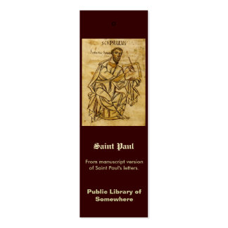 Señal - escritura de Saint Paul Tarjeta Personal