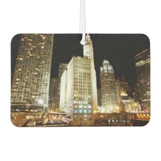Señal famosa de Chicago en la noche