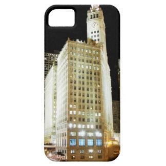 Señal famosa de Chicago en la noche iPhone 5 Funda