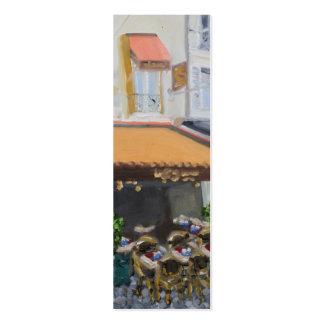 Señal flaca de Le Grand Cafe Fontainebleau Tarjetas De Visita Mini