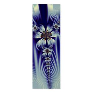 Señal floral del vestido tarjetas de visita