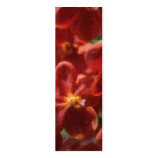 Señal floral tropical hawaiana tarjetas de visita mini