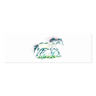 Señal florida del caballo tarjeta de visita