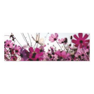 Señal fucsia de la manzanilla (personalizable) tarjetas de visita mini