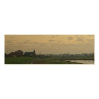 Señal holandesa de la foto de Holanda del paisaje Tarjeta De Visita