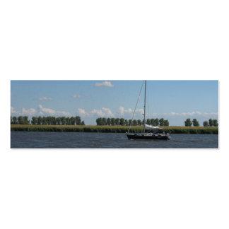 Señal holandesa de la foto del pólder del barco de tarjetas de visita mini