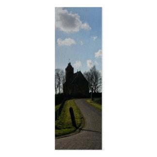 Señal holandesa vieja de Holanda de la iglesia Tarjetas De Visita Mini