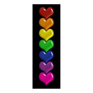Señal indestructible del arco iris de los tarjetas de visita mini