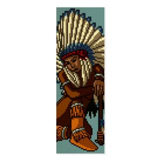 Señal india americana del pixel de la hacha de gue tarjetas de visita mini