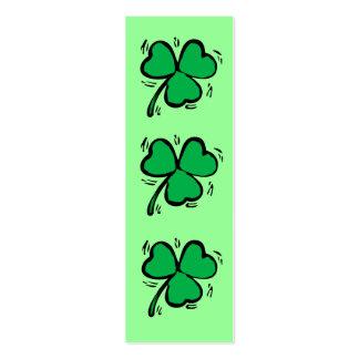 Señal irlandesa afortunada tarjetas de visita mini
