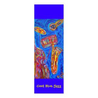 Señal - jazz azul fresco plantilla de tarjeta personal