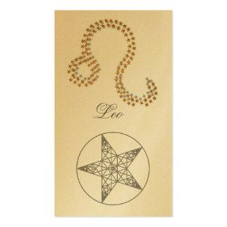 Señal Leo (muestra del zodiaco) Tarjeta De Negocio