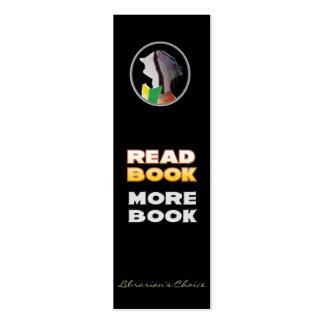 Señal - libro leído, más libro tarjeta personal