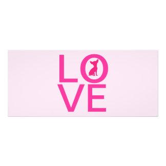 Señal linda del perro del rosa del amor de la chih tarjetas publicitarias