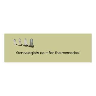 Señal - los Genealogists la hacen para… Tarjeta De Visita