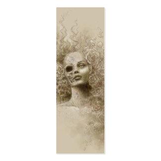 Señal macabra del arte de la fantasía del olvido plantilla de tarjeta de visita