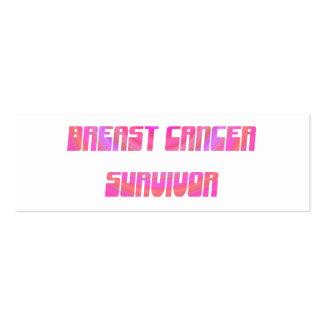 Señal maravillosa del superviviente plantilla de tarjeta personal