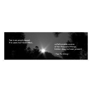 Señal No.3/de Tao Te Ching No.3/ Plantillas De Tarjetas De Visita