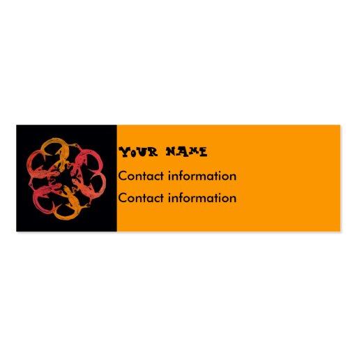 señal o tarjeta del perfil - lagartos del sudoeste tarjetas de visita mini