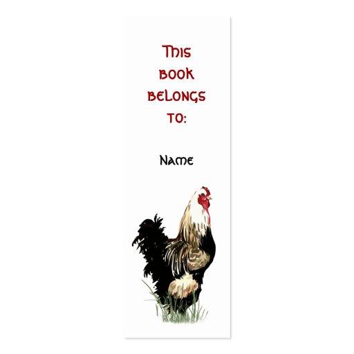 Señal orgullosa conocida de encargo del gallo de l plantillas de tarjetas de visita
