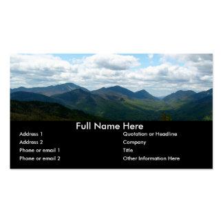 Señal panorámica del Mountain View Plantillas De Tarjetas Personales