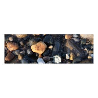 Señal pedregosa de la playa tarjetas de visita mini