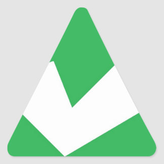 señal pegatina triangular
